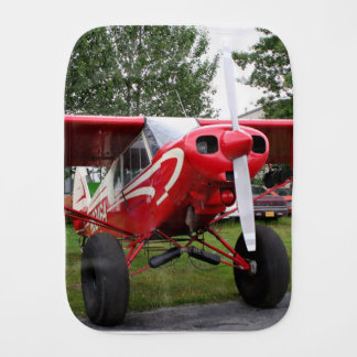 Red and white aircraft, Alaska Burp Cloth