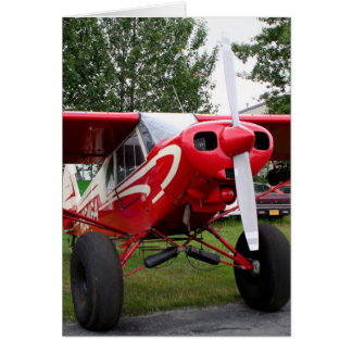 Red and white aircraft, Alaska Card