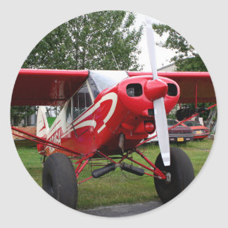 Red and white aircraft, Alaska Classic Round Sticker