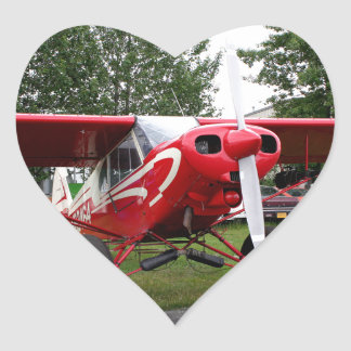 Red and white aircraft, Alaska Heart Sticker