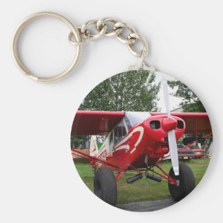 Red and white aircraft, Alaska Keychain