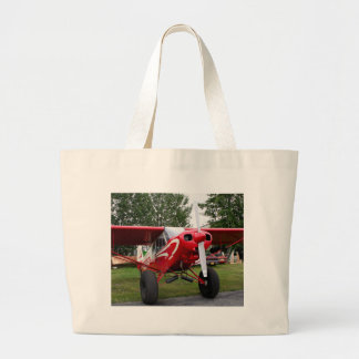 Red and white aircraft, Alaska Large Tote Bag