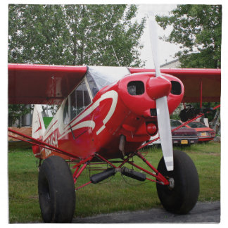 Red and white aircraft, Alaska Napkin