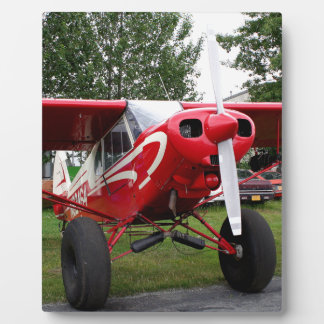 Red and white aircraft, Alaska Plaque