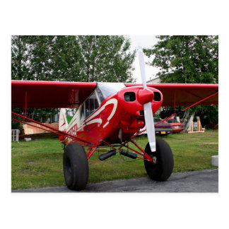 Red and white aircraft, Alaska Postcard