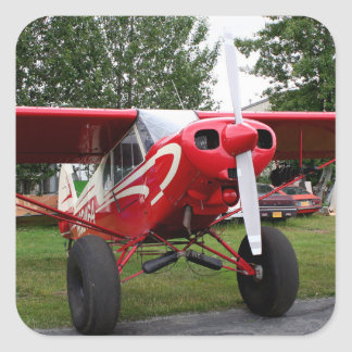 Red and white aircraft, Alaska Square Sticker