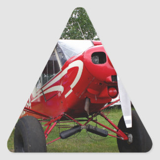 Red and white aircraft, Alaska Triangle Sticker