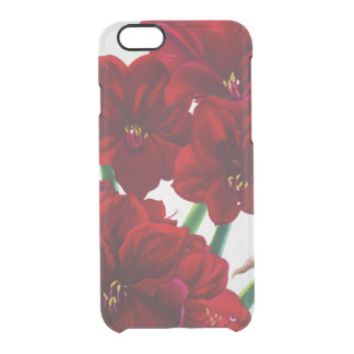 Red and White Amaryllis 2008 Clear iPhone 6/6S Case