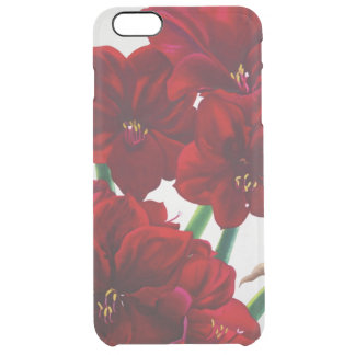 Red and White Amaryllis 2008 Clear iPhone 6 Plus Case