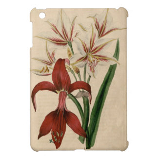 Red and White Amaryllis Flower Case For The iPad Mini