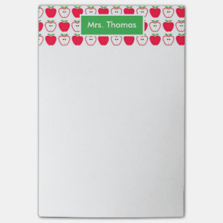 Red and White Apple Personalized Post It Note