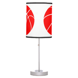 Red and White Basketball Decorative Table Lamp