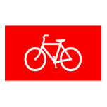 Red and White Bike Business Card