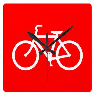 Red and White Bike Wallclocks