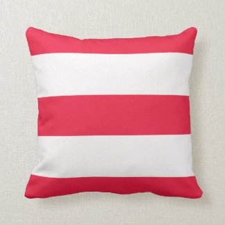 Red and White Broad Stripe Striped Stripes Pillow