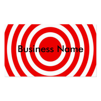 Red and White Bulls-Eye Business Cards
