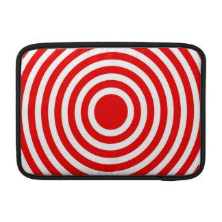 Red and White Bulls-Eye MacBook Sleeves