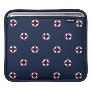 Red And White Buoy Pattern iPad Sleeve