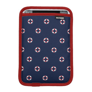 Red And White Buoy Pattern Sleeve For iPad Mini