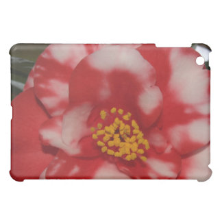 Red and White Camellia Flower Cover For The iPad Mini