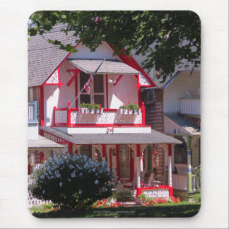 Red and White Campground Cottage-Martha's Vineyard Mouse Pad