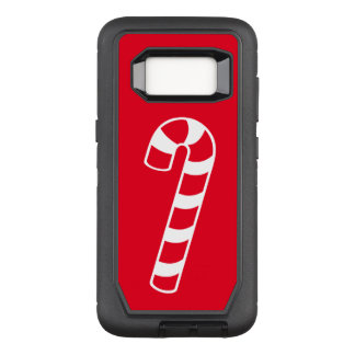 Red And White Candy Cane OtterBox Defender Samsung Galaxy S8 Case