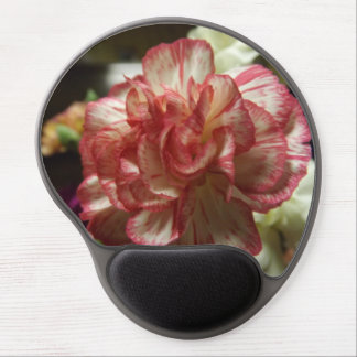 Red and White Carnation Gel Mousepad