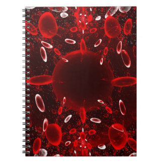 Red And White Cells Notebook