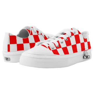 Red And White Checker Pattern