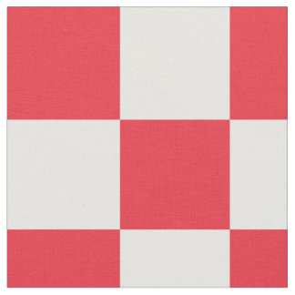 Red and white checkerboard pattern fabric