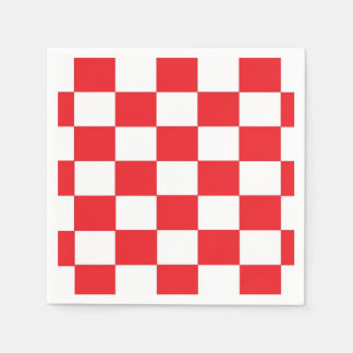 Red and White Checkered Paper Napkins