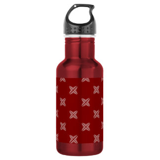 Red And White Checkered Pattern 532 Ml Water Bottle