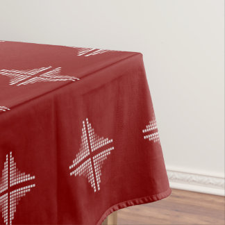 Red And White Checkered Pattern Tablecloth