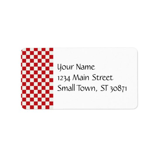 Red and White Chequered Pattern Country BBQ