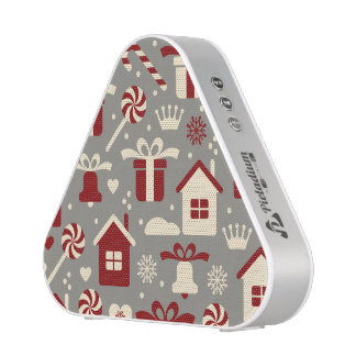 Red and White Christmas Candies and Gifts Pattern Speaker
