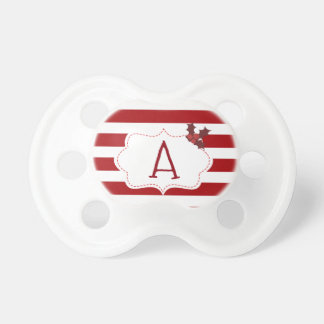 Red and White Christmas Magic Pacifier