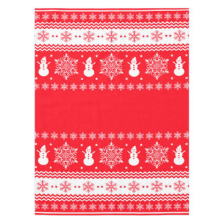 Red and White Christmas Tablecloth