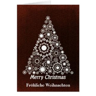 Red And White Christmas Tree Fröhliche Weihnachten Card