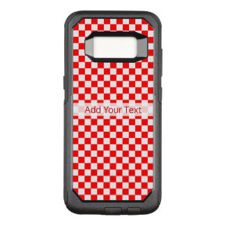 Red and White Classic Checkerboard by STaylor OtterBox Commuter Samsung Galaxy S8 Case