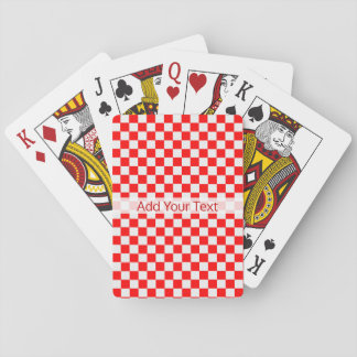 Red And White Classic Checkerboard by STaylor Playing Cards