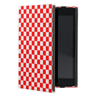 Red And White Classic Checkerboard Cases For iPad Mini
