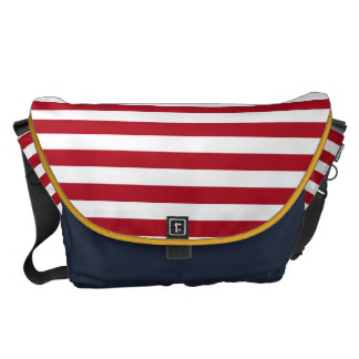 Red and White Courier Bag