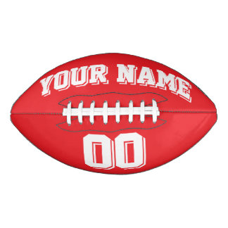 RED AND WHITE Custom Football
