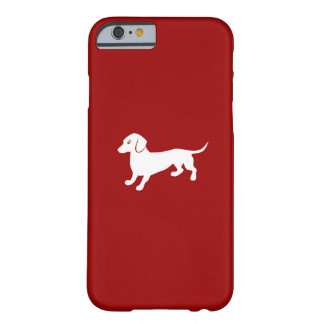 Red and White Dachshund Design Barely There iPhone 6 Case