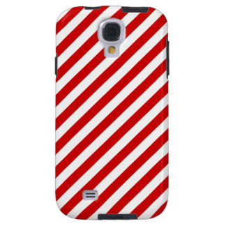 Red and White Diagonal Stripes Pattern