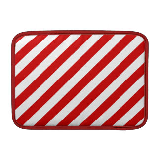 Red and White Diagonal Stripes Pattern Sleeve For MacBook Air