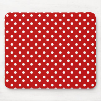 Red and White Dots Mousepad