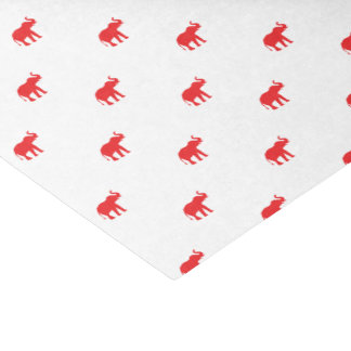 Red and white elephant tissue paper