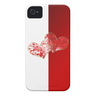 Red and white flag of love iPhone 4 Case-Mate cases