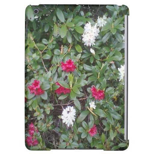 red and white flower iPad air covers